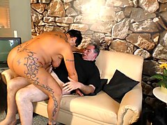 xxx omas - tattooed german amateur granny gets her mature pussy fucked