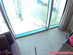 real teen pounded at the office in pov