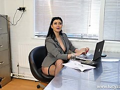 sexy boss bitches turn office perv into nylon stockings worship and foot slave bitch