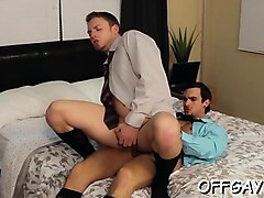 astounding scenes of office gay anal with the horny boss