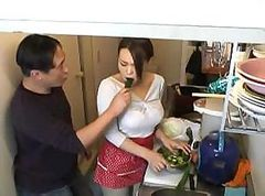 Asian housewife gets worked over pretty good with some fucking