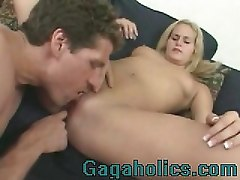 Blonde Babe Gets A Deep Fuck From Behind