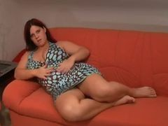 Sexy German Solo On Couch