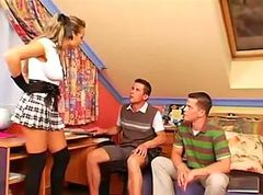 schoolgirl Goddess Makes 2 Gay Boys