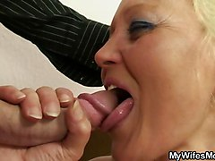 He Rams Hairy Mature Pussy