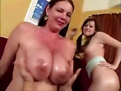 Squeezing Mother In Law Amp 039 S Oily Tits