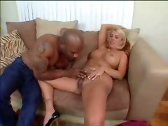 Blonde Milf With Hairy Pussy Gets Railed By Black Dick
