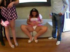 Liane And Jacqueline 2 Coeds Fucked In Groupsex