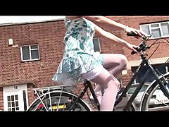 British Blonde Slut Gets Fucked After Falling Off A Bike