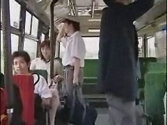 fucking in the bus.asian porn